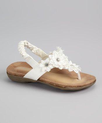 White Floral Sandal