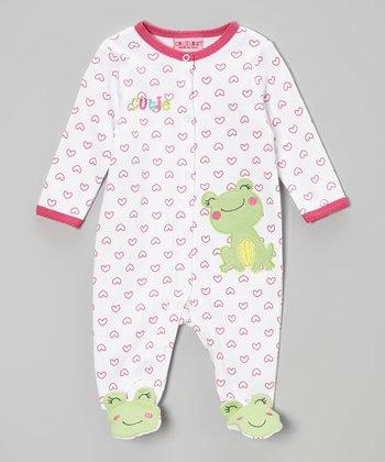 Weeplay Kids White & Pink Cutie Footie - Infant
