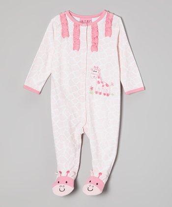 Weeplay Kids Pink Giraffe Footie - Infant