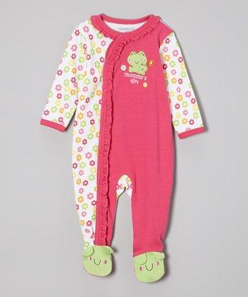 Weeplay Kids Fuchsia Frog Footie - Infant
