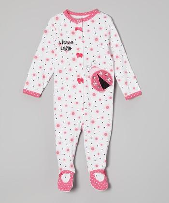 Weeplay Kids White & Pink Ladybug Footie - Infant