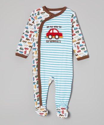 Weeplay Kids Blue Cars Footie - Infant