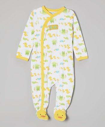 Weeplay Kids Yellow Duck Footie - Infant