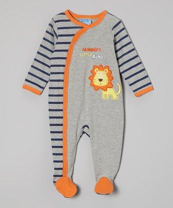 Weeplay Kids Gray King Footie - Infant