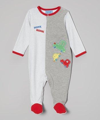 Weeplay Kids Gray Honk Footie - Infant