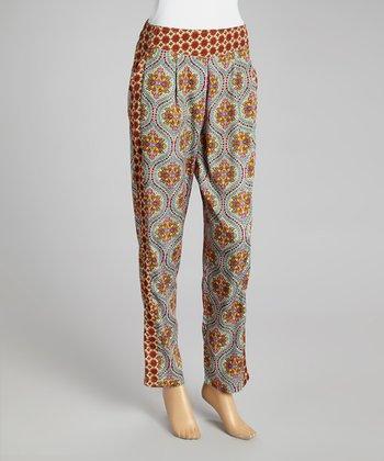 Paisley Floral Pants - Women