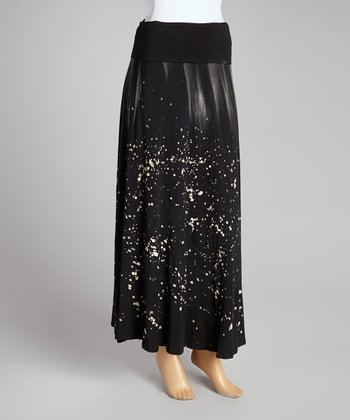 Galaxy Charcoal Maxi Skirt - Women