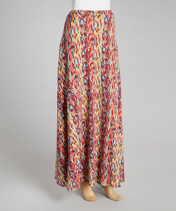 Raspberry Drizzle Maxi Skirt - Women
