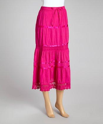 Fuchsia Peasant Skirt - Women