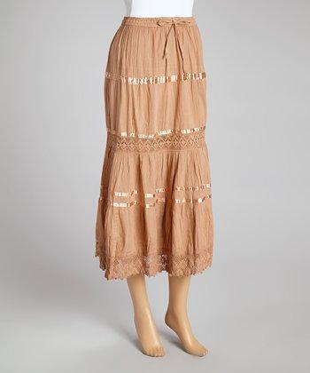 Beige Peasant Skirt - Women