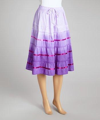 Purple Ombré Peasant Skirt - Women