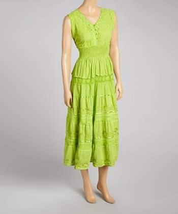 Olive Smocked Empire-Waist Dress - Women