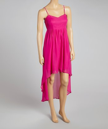 Fuchsia Hi-Low Dress - Women