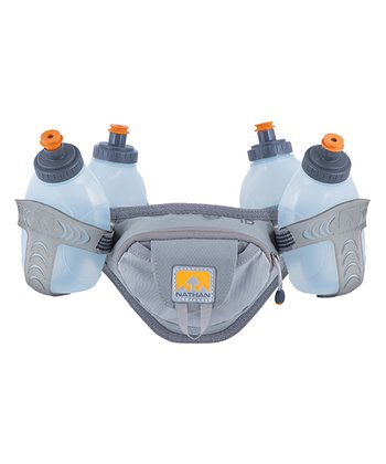 Gray Trail Mix Hydration Belt Set