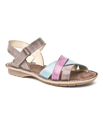 Gray & Purple Treat Sandal