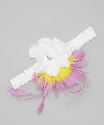Lilac & Yellow Flower Headband