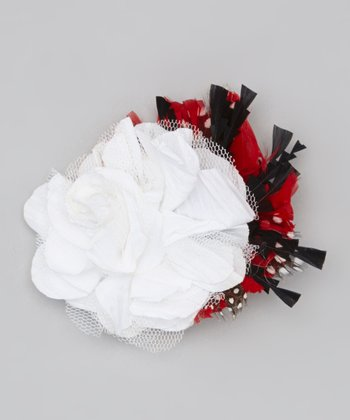 Red Ravish Flower Wristlet