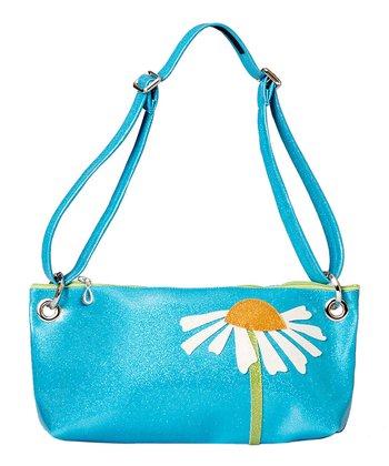 glittersweet Blue Daisy Purse
