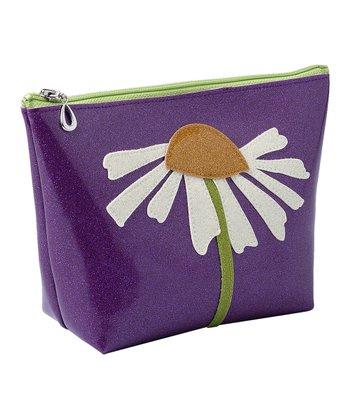 glittersweet Purple Daisy Travel Case