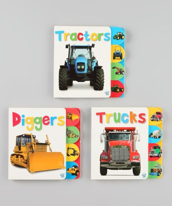 Busy Baby Tabbed Transportation Board Book Set