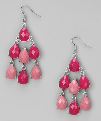 Pink Chandelier Earrings