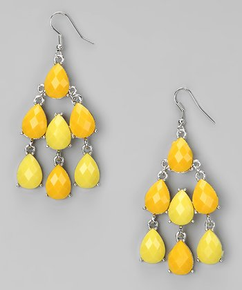 Yellow Chandelier Earrings