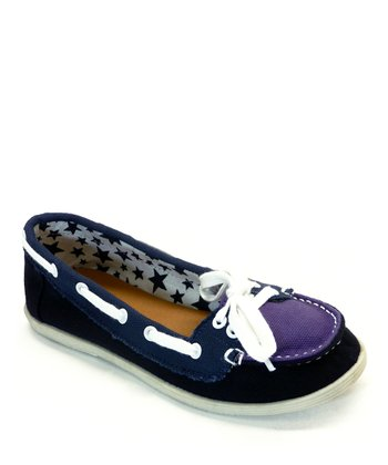 Purple Totie Boat Shoe