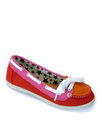 Red Totie Boat Shoe
