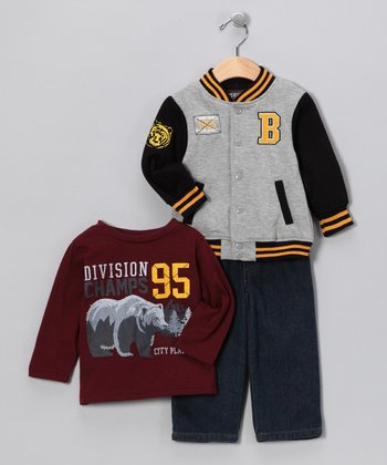 Navy & Maroon Division Champs Set - Toddler & Boys