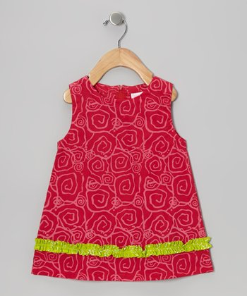 Dark Pink Dina Swing Dress - Infant & Toddler