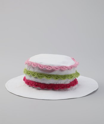 White Crocheted-Trim Sunhat