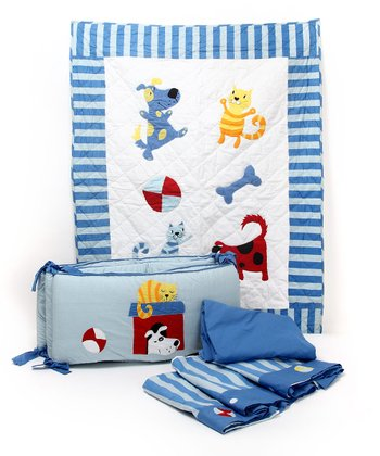 Mimi & Fido Five-Piece Crib Set