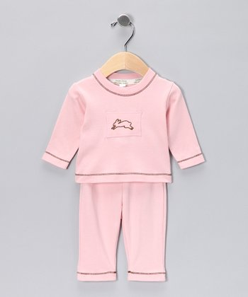 Pink Bunny Organic Tee & Pants - Infant