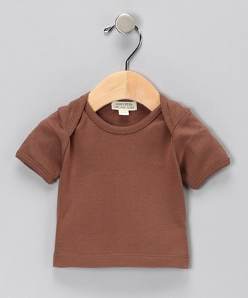 Brown Organic Lap-Neck Tee - Infant