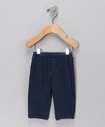 Navy Organic Pants - Infant