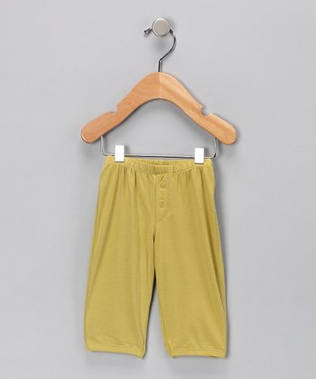 Ripe Green Button Organic Pants - Infant