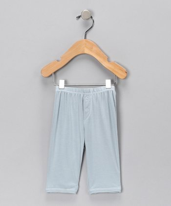Blue Button Organic Pants - Infant