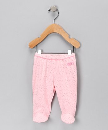 Pink Organic Footie Pants - Infant
