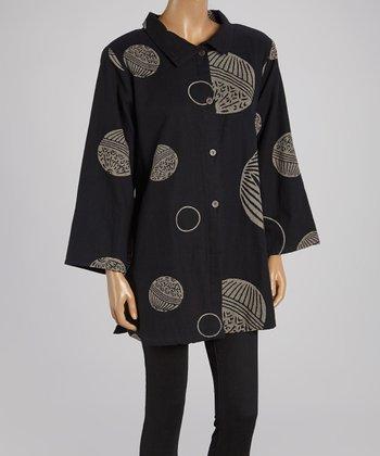Cupcake International Black & Beige Circle Jacket - Women