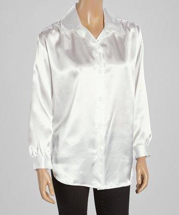 Wall Street White Button-Up - Women & Plus
