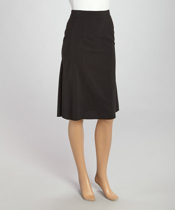 Wall Street Black Skirt - Women & Plus