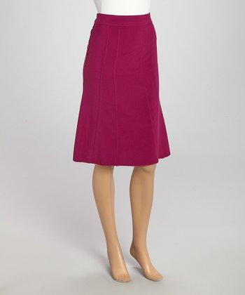 Wall Street Magenta Skirt - Women & Plus