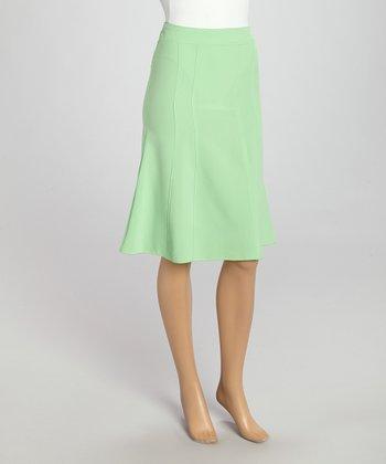 Wall Street Green Skirt - Women & Plus