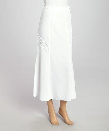 Wall Street White Maxi Skirt - Women & Plus