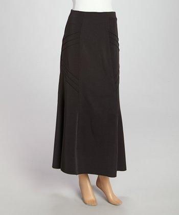 Wall Street Black Maxi Skirt - Women & Plus