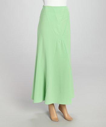 Wall Street Green Maxi Skirt - Women & Plus