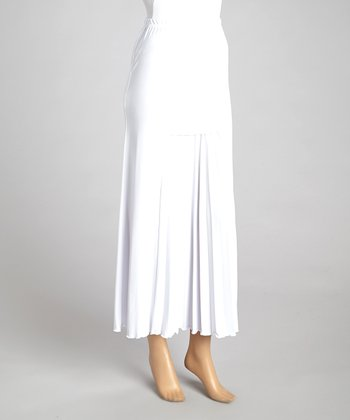 Wall Street White Pleated Skirt - Women & Plus