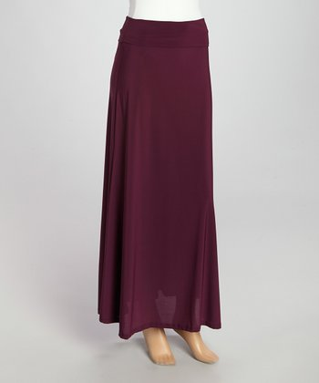 Wall Street Purple Maxi Skirt - Women & Plus