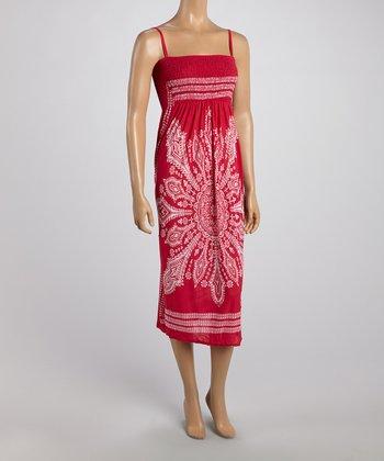 Pink Tapestry Smocked Dress