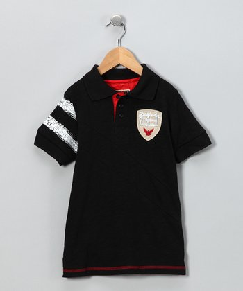 Black Band Polo - Toddler & Boys